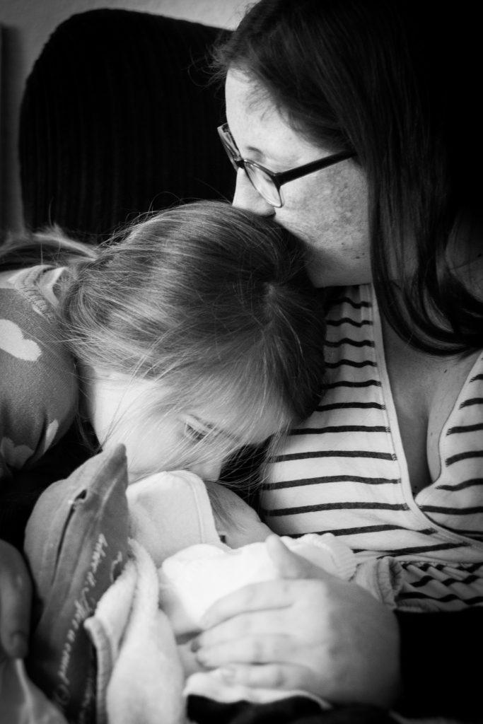 Janina mit beiden Kindern