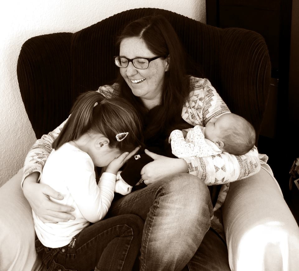Janina mit den Töchtern